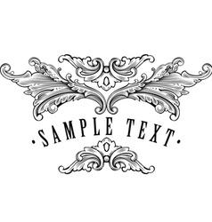 vintage ornamental vector image vector image
