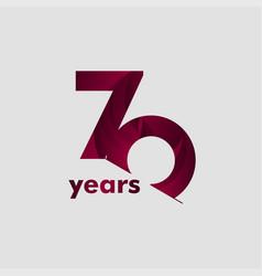 70 year anniversary elegant number template design vector