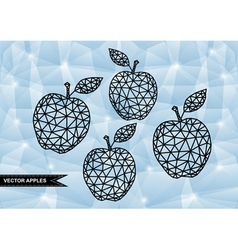 Abstract triangle apples with background vector image