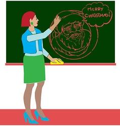 art class santa claus vector image