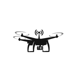 Black drone Icon vector