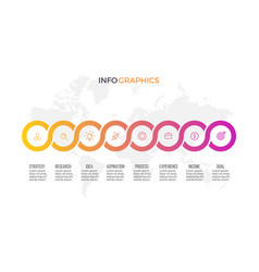 business infographics presentation with 8 options vector image