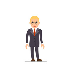 business man business man stands with downcast vector image