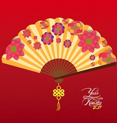 Chinese New Year Background with blossom vector
