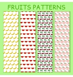 Colorful seamless pattern of bananas watermelons vector image