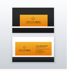 company business card design in yellow and black vector image