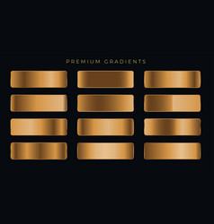 Copper metallic premium gradients set vector