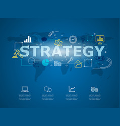 Creative infographic of business strategy with vector