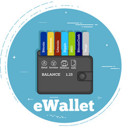 Cryptocurrency wallet concept in line art style vector