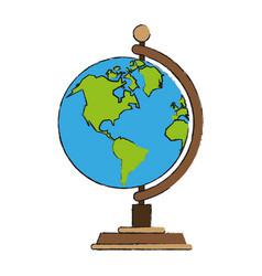 earth world globe vector image