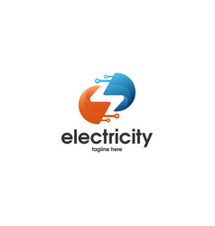 electricity abstract logo vector image
