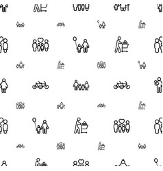 father icons pattern seamless white background vector image