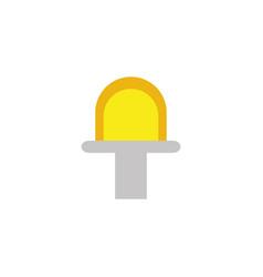 Flashing siren energy electricity light flat icon vector