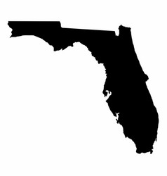 florida map dark silhouette vector image