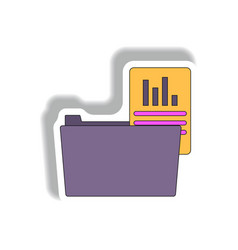 folder with report in paper vector image