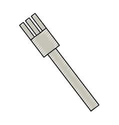 Fork cutlery utensil vector