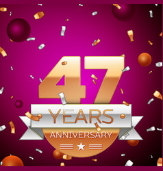 Forty seven years anniversary celebration design vector