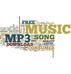 Free mp download song text background word cloud vector
