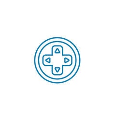 gamepad buttons linear icon concept gamepad vector image