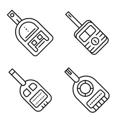 glucose meter icons set outline style vector image