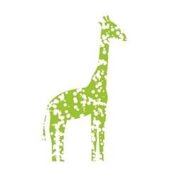 Green art giraffe vector