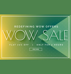 green sale discount banner poster design template vector image