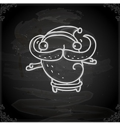 Hand Drawn Quirky Father Christmas vector