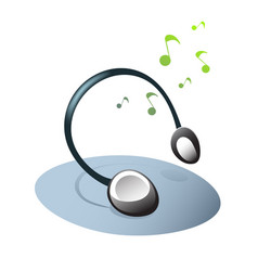 headphones and music icon vector image