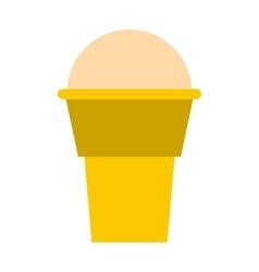 Ice cream icon flat style vector image