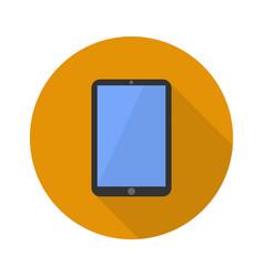 Icon phone with a shadow flat sign vector