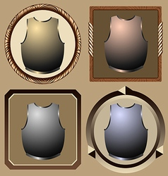 icons pirate cuirass vector image vector image