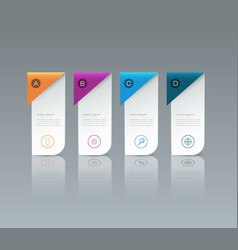 Infographic label design with icons and 4 options vector