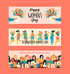 International women s day templates vector