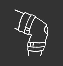 Knee brace chalk icon vector