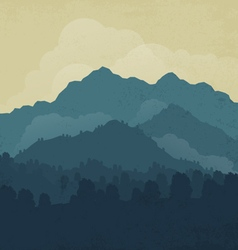 Landscape with forest and mountain vector
