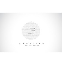 Lb l b logo design with black and white creative vector