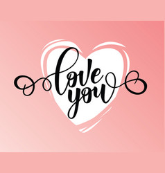 Love you lettering motivation poster vector