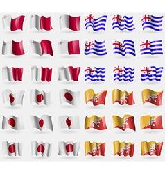 Malta Ajaria Japan Bhutan Set of 36 flags of the vector image