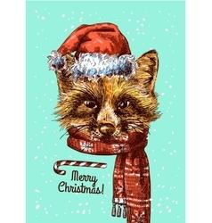 Merry Christmas postcard vector