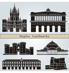 Naples landmarks and monuments vector image