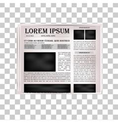 Newspaper headline vector