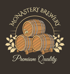 old barrels logo vector image