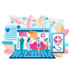Online doctor telemedicine vector