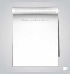 Open vertical paper journal vector