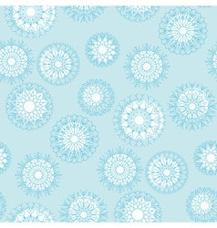 Pale blue abstract snowflakes background of snow vector