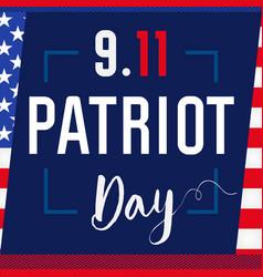 Patriot day card usa blue vector