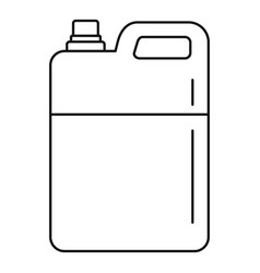 Pool chlorine canister icon outline style vector
