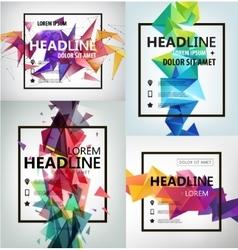 Poster Banner Flyer Cover Brochure vector image