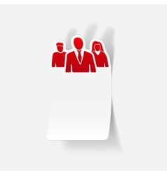 realistic design element business people vector image