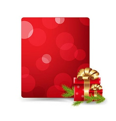 Red Blank Gift Tag And Gift Box vector image